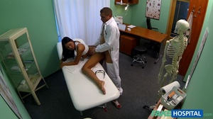 Brunette chick gives head to a doctor be - XXX Dessert - Picture 17