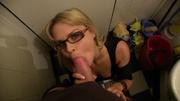 horny glasses wearing milf