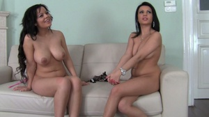 These two curvy black haired sluts love  - XXX Dessert - Picture 2