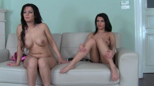 These two curvy black haired sluts love  - XXX Dessert - Picture 14