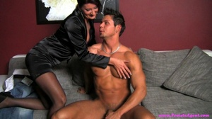 Naughty black haired milf swallowing and - XXX Dessert - Picture 4