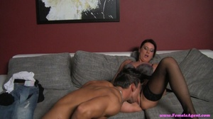 Naughty black haired milf swallowing and - XXX Dessert - Picture 6