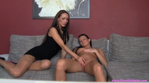 Two sassy black haired lesbians enjoying - XXX Dessert - Picture 9