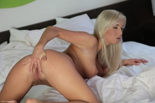 hot blonde lusciously formed