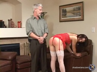 redhead milf enjoys spanking