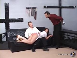 brunette milf loves spanking