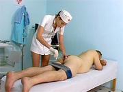 hairy teenage nurse gets