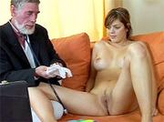 senior old doctor treating