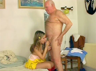 Innocent blonde schoolgirl blows her teacher for cumshot 8