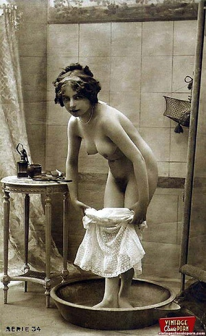 Horny vintage beauties taking a hot bath - XXX Dessert - Picture 11