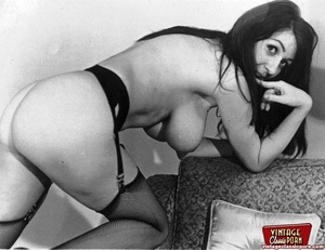 Very sexy vintage lingerie chicks posing - XXX Dessert - Picture 4