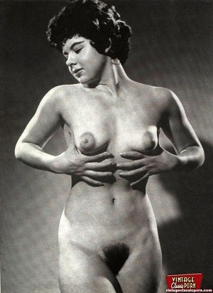Vintage chicks with hairy pussies posing - XXX Dessert - Picture 6