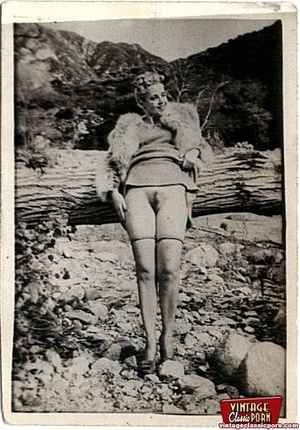 Vintage chicks with hairy pussies posing - XXX Dessert - Picture 11