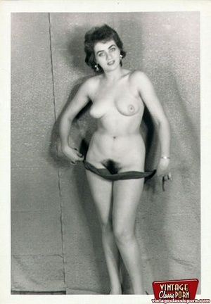 Vintage chicks with hairy pussies posing - XXX Dessert - Picture 12