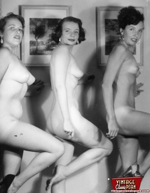 More than one vintage girl posing naked  - XXX Dessert - Picture 4