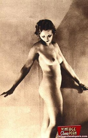 Pretty vintage naked models posing nude  - XXX Dessert - Picture 5