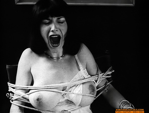 Hairy retro chick with huge breasts suck - XXX Dessert - Picture 1