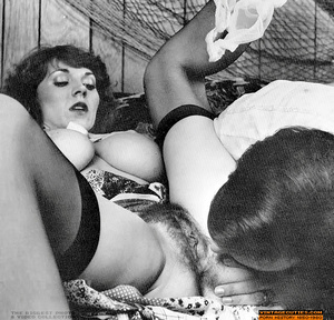 Hairy retro chick with huge breasts suck - XXX Dessert - Picture 8