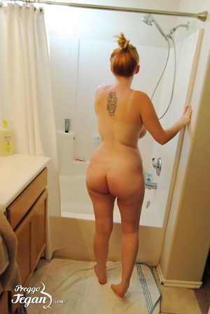 Pregnant Tegan is washing in the shower - XXX Dessert - Picture 1