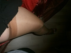 amateur, bbw, stockings, striptease
