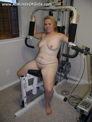 blonde chubby wife shower
