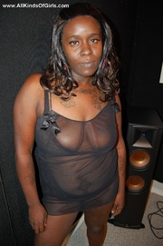 busty black housewife has