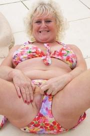 granny bikini claire knight