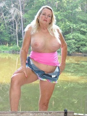 granny exhibitionist adonna from
