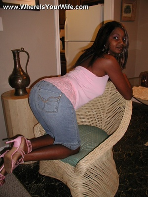 Check out hot ebony wife seductively sho - XXX Dessert - Picture 1