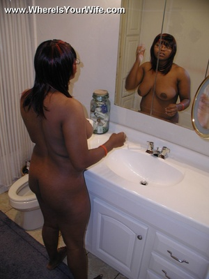 Plump big boobed black spreading her ass - XXX Dessert - Picture 12