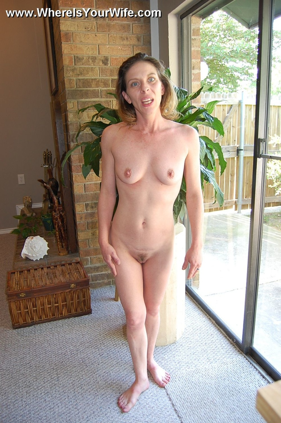 Wife strips nude