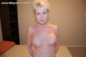 Sexy blonde grandma slowly taking off al - XXX Dessert - Picture 9