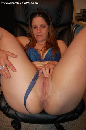 Cute long haired wife pulls down her dee - XXX Dessert - Picture 7