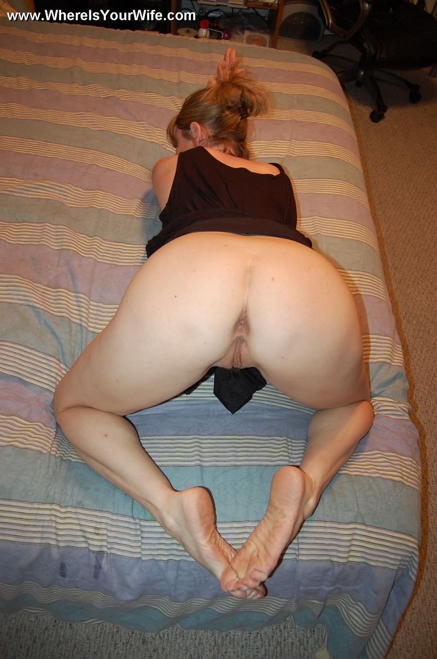 In homemade panties ass