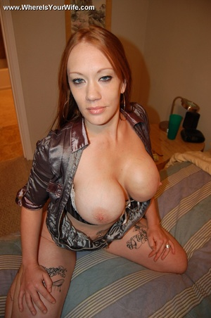Tattoed redhead busty mom shows us what  - XXX Dessert - Picture 6