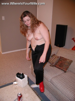 Gagballed plump wife in handcuffs gets h - XXX Dessert - Picture 2