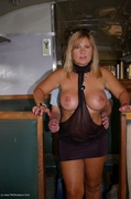 amateur, big tits, flashing, milf