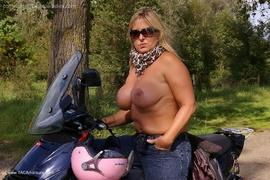 amateur, big tits, flashing, milf