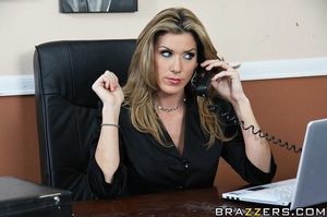 Kayla is stuck working in her office all - XXX Dessert - Picture 5