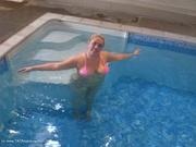 flashing bikini barby from