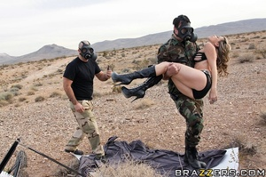 Two soldiers arrive on site to cover a c - XXX Dessert - Picture 5