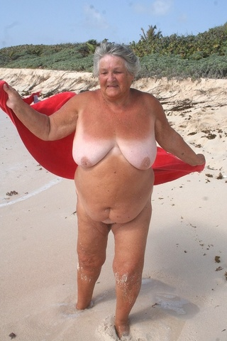 flashing grandma libby from