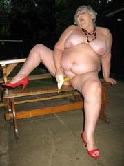 bbw exhibitionist grandma libby