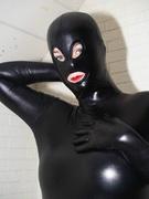 amateur, big tits, rubber, solo