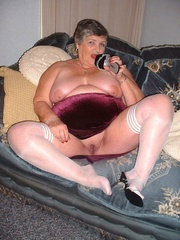 bbw stockings grandma libby