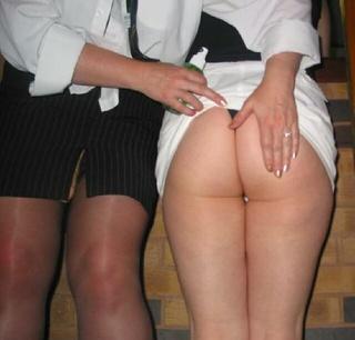 big tits lesbian strap-on