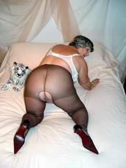granny nylons grandma libby