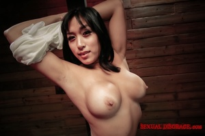 Cute Asian chick hogtied and with nipple - XXX Dessert - Picture 2