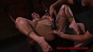 Cute Asian chick hogtied and with nipple - XXX Dessert - Picture 12