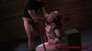 Ginger inked babe in cuffs and chains ge - XXX Dessert - Picture 5